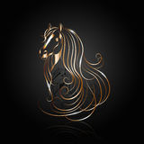 Copper abstract horse Royalty Free Stock Photo