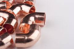 Copper accessories Royalty Free Stock Photo