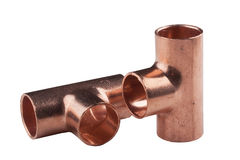 Copper accessories Royalty Free Stock Photos