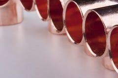 Copper accessories Stock Photo