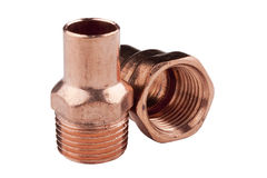 Copper accessories Royalty Free Stock Images