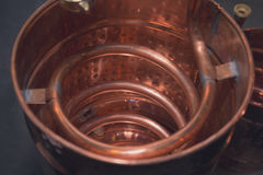 Copper alcohol mashine close up royalty free stock image