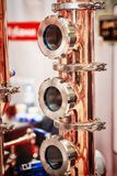 Copper alembic for making alcohol royalty free stock photo