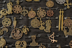 Copper amulets Stock Photos
