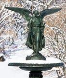 Copper Angel Statue Stock Photo