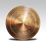 Copper aragon coin isolated on white background 3d rendering Stock Photo