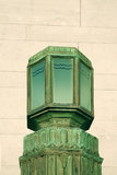 Copper Art Deco exterior light Royalty Free Stock Photos