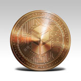 Copper bancor coin  on white background 3d rendering Royalty Free Stock Image
