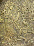Copper Bas-relief On The Basis Of Ancient Myths Royalty Free Stock Photography
