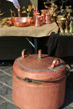 Copper boiler. For distilled brandy and another household items copper Royalty Free Stock Image