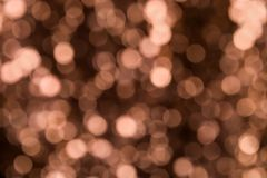 Copper Bokeh Stock Image