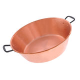 Copper bowl isolated Stock Images