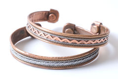 Copper bracelet Royalty Free Stock Image