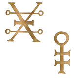 COPPER AND BRASS. SYMBOLS USED FOR MATERIALS Stock Image