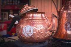 Copper brewing teapot Stock Photography
