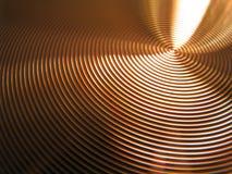 Copper bronze circles vertigo grooves royalty free stock photos