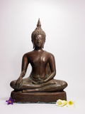 Copper buddha statue Stock Photography