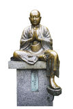 Copper buddha statue isolate on white background with workpath Stock Photo