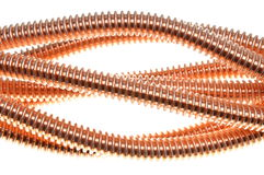 Copper cable, energy and technology industry Royalty Free Stock Photos