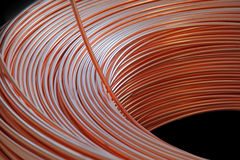 Copper cable factory Royalty Free Stock Photos