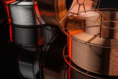 Copper cable factory Stock Photography