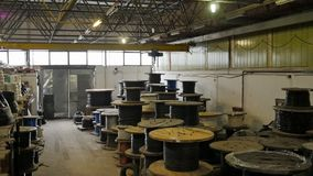 Copper cable factory stock video footage