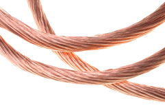 Copper cable lines Royalty Free Stock Images