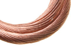 Copper cable, non-ferrous metals Stock Photos