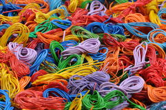 Copper cable scrap recycling Stock Photo