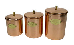 Copper Cannisters Stock Images