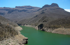 Copper canyon. Blue lake in Copper Canyon, Mexico Stock Images