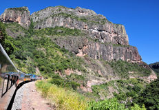 Copper canyon. Pic on the Chepe train, Chihuahua Mexico Royalty Free Stock Images
