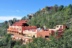 Copper Canyon Hotel. Pic of Hotel Posada Barrancas at Divisadero Chihuahua, at the edge of the Copper Canyon, Mexico Stock Photo