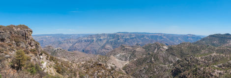 Copper Canyon Panorama. Panoramic view of Copper Canyon in Mexico Royalty Free Stock Photos