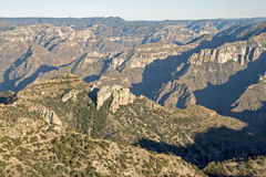 Copper Canyon in the Sierra Tarahumara. Panoramic view of the Copper Canyon in the Sierra Tarahumara, Chihuahua, Mexico Stock Images