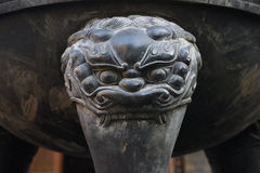 A copper-carving beast's head Royalty Free Stock Photography