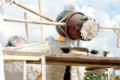 Copper casting Stock Photo