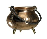 Copper cauldron Stock Photos