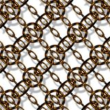 Copper chain link Stock Image