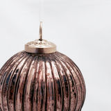 Copper christmas ball. Isolated on a white background Stock Image