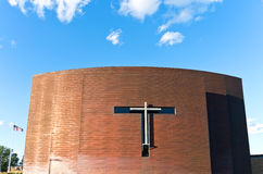 Copper Clad Chapel Exterior and Cross Royalty Free Stock Images