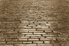 Copper cobbles stock photography