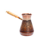 Copper coffee Cezve Royalty Free Stock Image