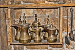 Copper coffee pots east type Royalty Free Stock Images