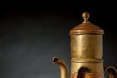 An copper coffeepot Stock Photos