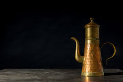 An copper coffeepot Royalty Free Stock Photo