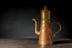 An copper coffeepot Stock Photo