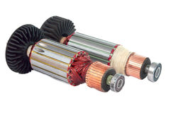 Copper Coils inside Electric Motor Royalty Free Stock Photos
