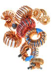 Copper coils Stock Photos