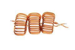 Copper coils Royalty Free Stock Photography